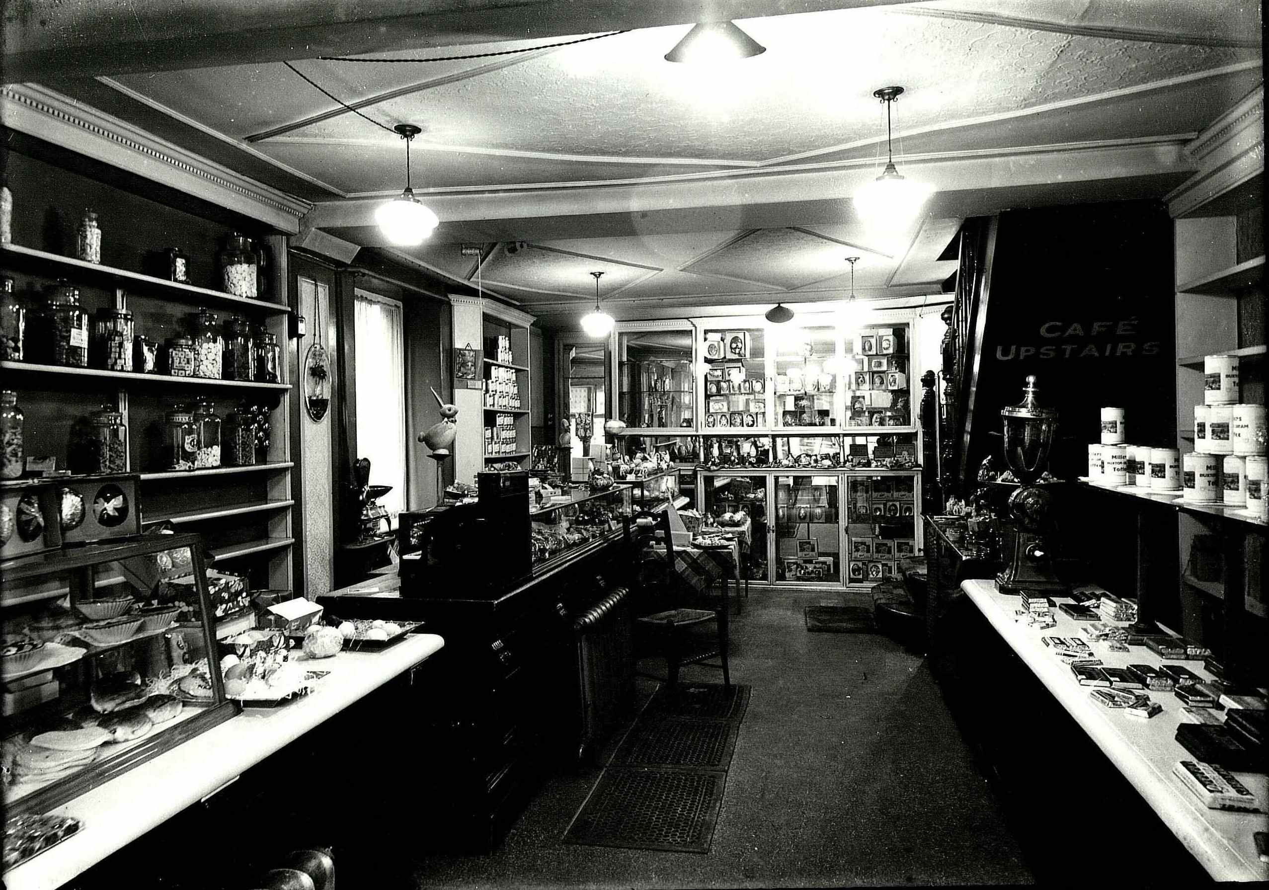 Interior of Millers Cafe, Buxton, 28.2.1938