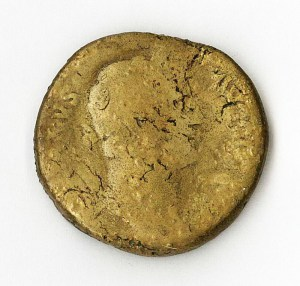 Roman Emperor Hadrian 117 -138 A.D. (coin front)