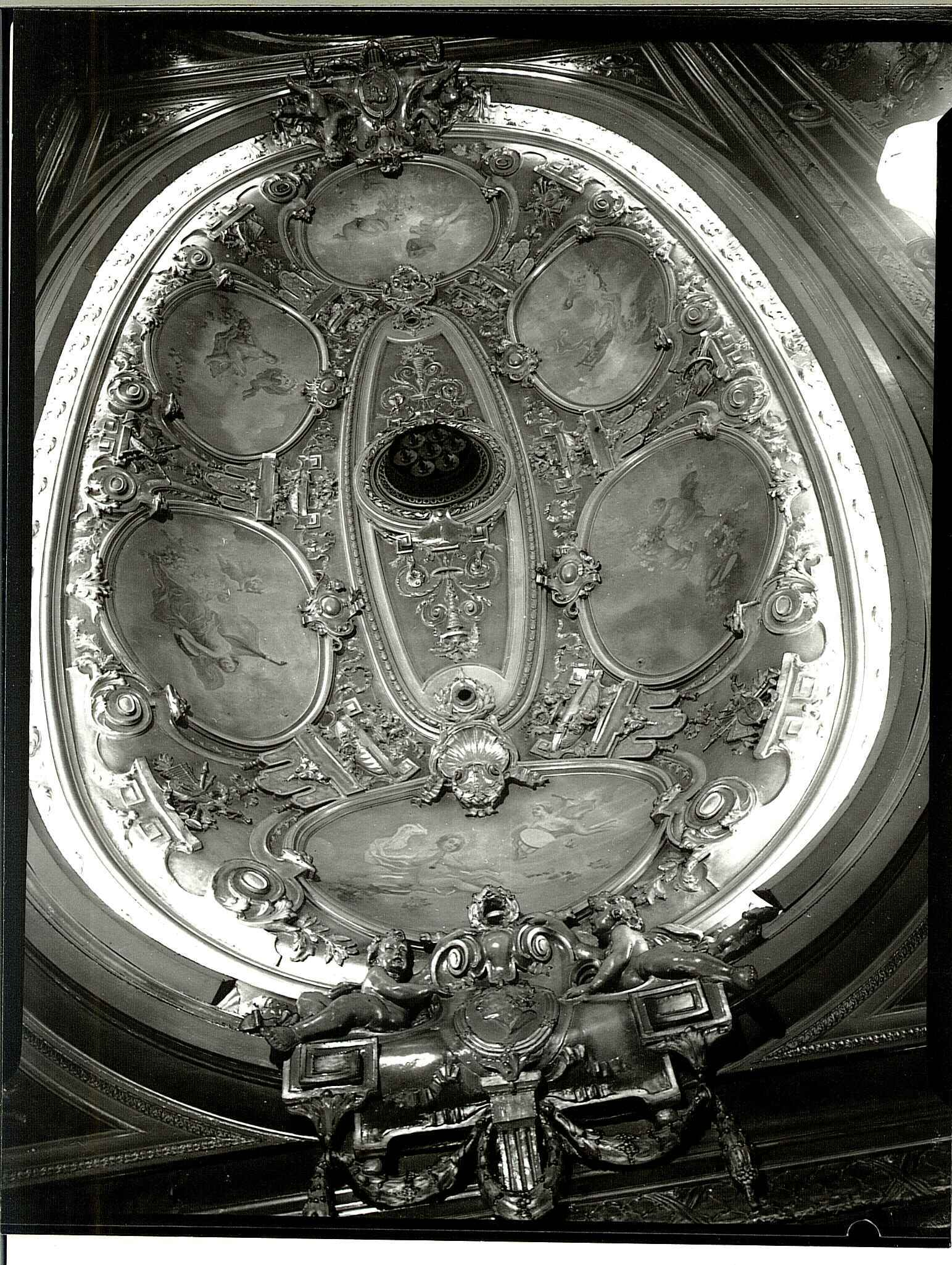 Ceiling of the Opera House, taken for ICI Paints Division, 17th December 1958
