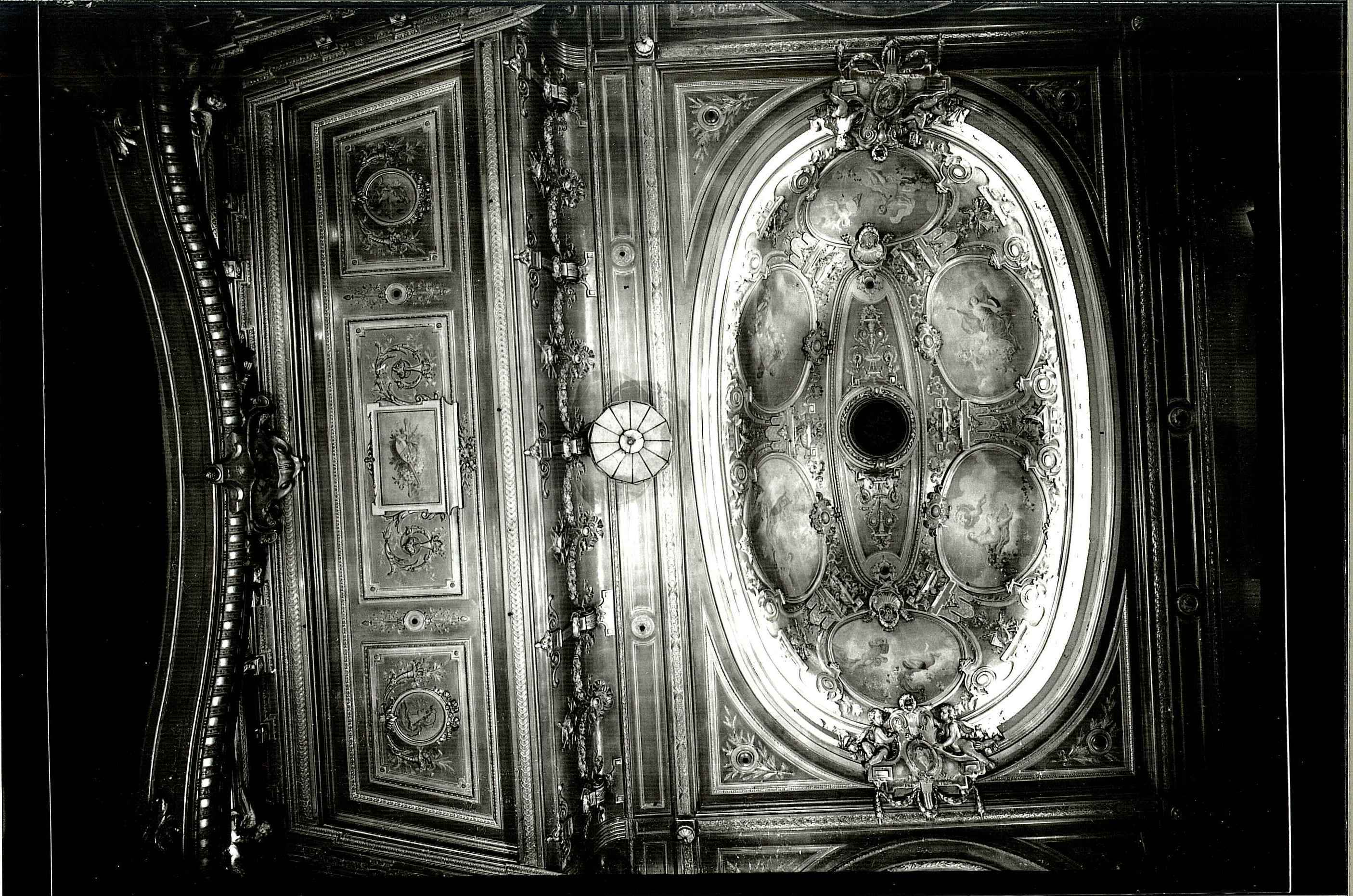 Ceiling detail, Buxton Opera House, looking towards, probably 1950s.