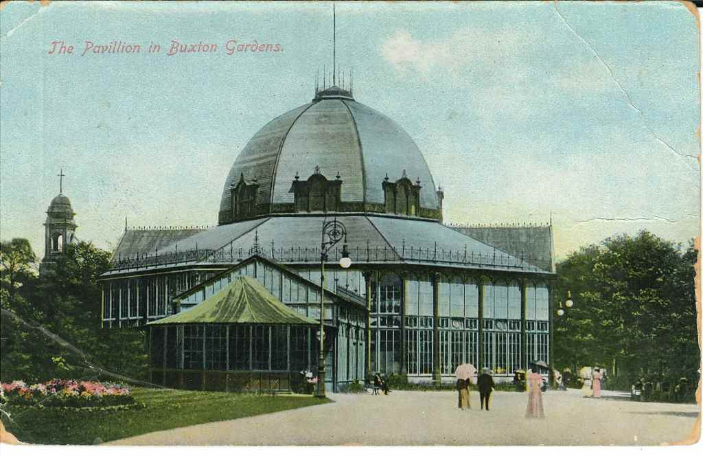 Postcard featuring a coloured print of the Octagon, posted 6th August 1907 (front)