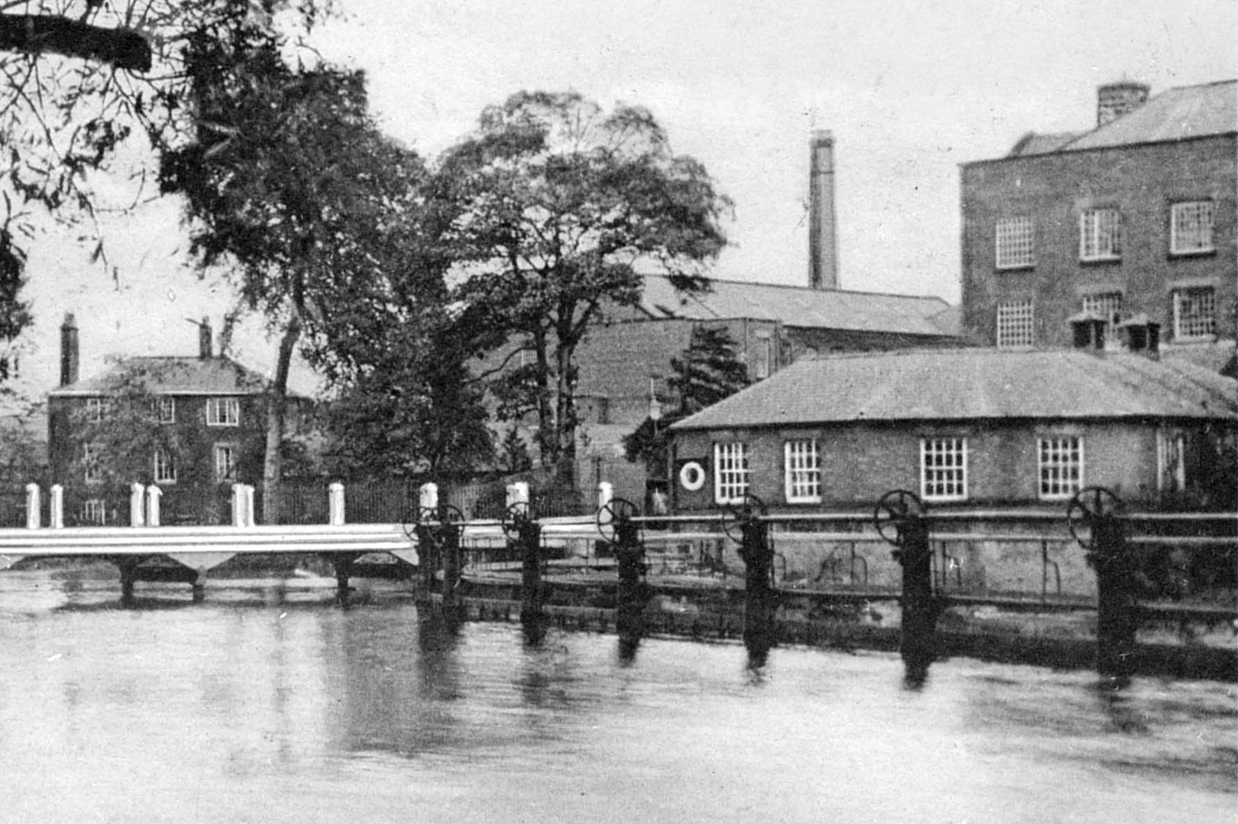 Darley Abbey West Mill and bridge c1910
