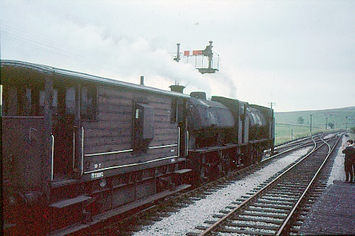 Locomotive and brake van on the Cromford & High Peak Railway
