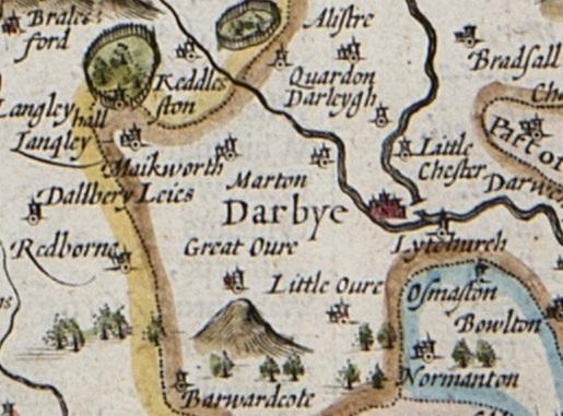 Map Of Uk Derby.Derby 1610 Map By John Speed