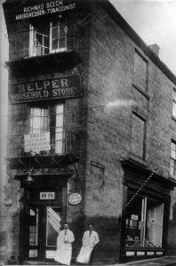 Barbers on 1 High Street in 1919
