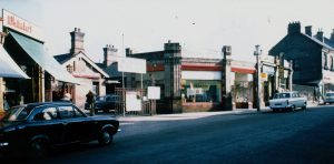 The entrance to Belper Station in 1973